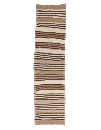 "Striped Vintage Kilim Runner - 2`10"" x 10`8"""