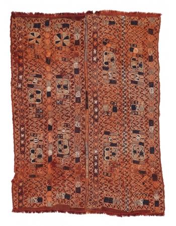 """Embroidered Vintage Arabi Kilim Rug - 4`6"""" x 6`0"""""""