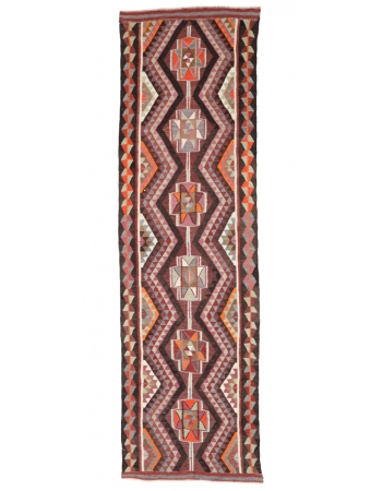 "Vintage Decorative Colorful Kilim Runner - 3`1"" x 6`8"""