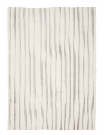 """Vintage Modern Turkish Cotton Kilim - 7`3"""" x 9`10"""""""