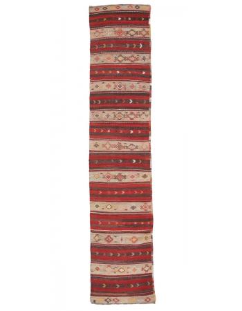 "Decorative Vintage Kilim Runner - 2`4"" x 11`4"""