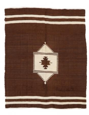 """Vintage Turkish Blanket Kilim Rug - 4`10"""" x 6`0"""""""