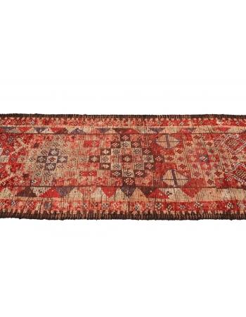 "Vintage Decorative Herki Runner Rug - 2`9"" x 13`5"""
