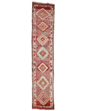 "Vintage Decorative Runner Rug - 2`8"" x 13`5"""