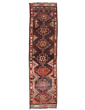 """Vintage Decorative Herki Runner - 2`11"""" x 11`3"""""""