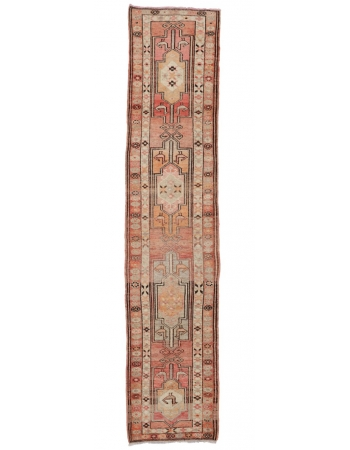 "Vintage Faded Decorative Runner - 2`10"" x 13`1"""