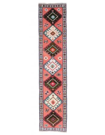 "Vintage Decorative Runner Rug - 2`7"" x 11`3"""