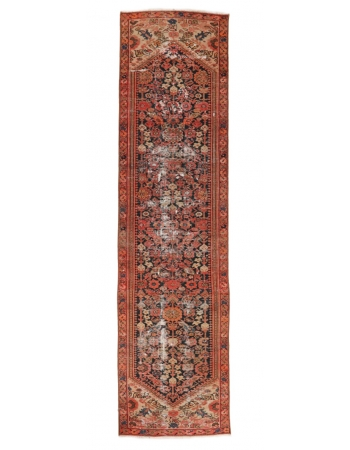 "Distressed Antique Malayer Runner - 2`5"" x 8`11"""