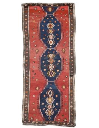 "Large Vintage Decorative Turkish Kilim  - 6`1"" x 13`9"""