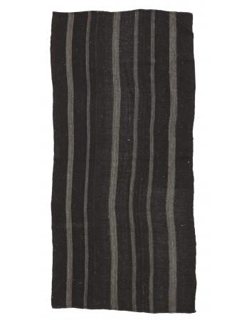 "Striped Vintage Goat Hair Kilim Rug - 4`4"" x 9`10"""