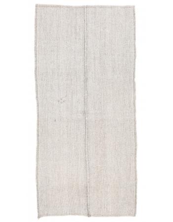 "Gray Vintage Modern Kilim Rug - 4`1"" x 8`6"""