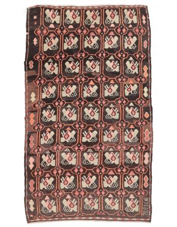 """Vintage Turkish Decorative Kilim Rug - 5`7"""" x 10`2"""""""