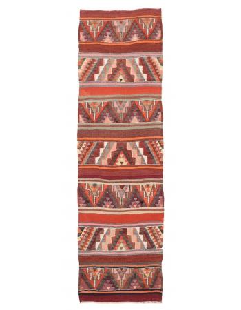 "Decorative Vintage Kilim Runner - 3`1"" x 10`9"""