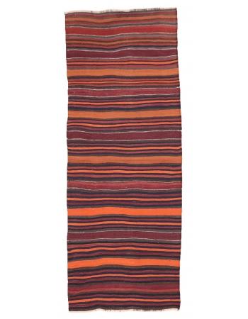 "Striped Vintage Kilim Runner - 3`8"" x 9`9"""