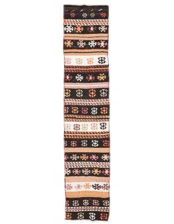 "Vintage Decorative Kilim Runner - 2`10"" x 13`11"""
