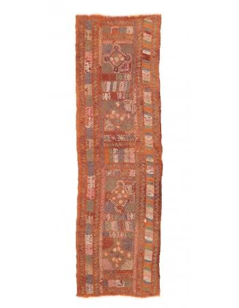 "Embroidered Arabi Kilim Runner - 2`5"" x 8`0"""