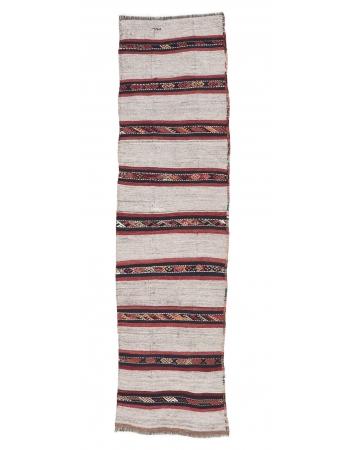 "Striped Vintage Kilim Runner - 2`3"" x 8`0"""