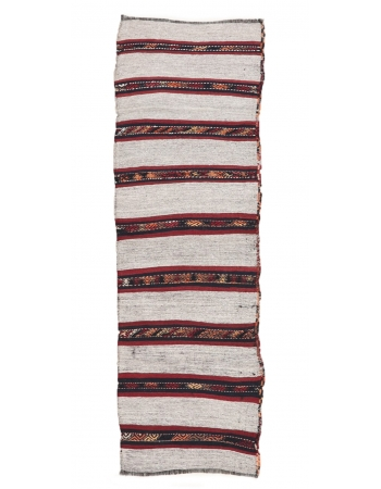 "Vintage Striped Kilim Runner - 2`2"" x 7`5"""