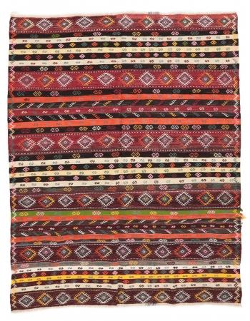 """Embroidered Vintage Kilim Rug - 6`11"""" x 9`0"""""""