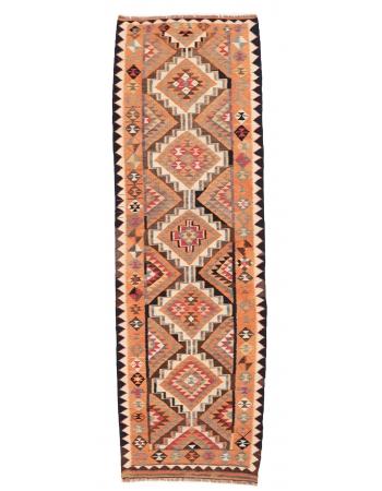 "Vintage Decorative Kilim Runner - 3`6"" x 10`11"""