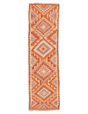 "Decorative Vintage Kilim Runner - 2`11"" x 10`0"""
