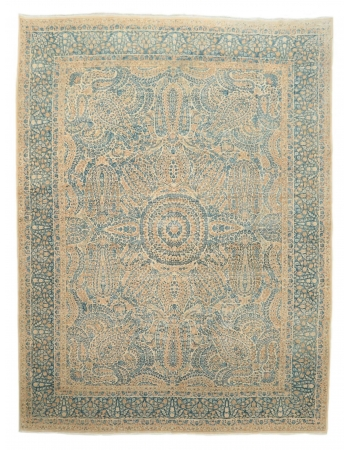 "Large Vintage Washed Out Kerman Rug - 8`9"" x 11`9"""