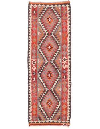 "Vintage Decorative Kilim Runner - 3`1"" x 8`11"""