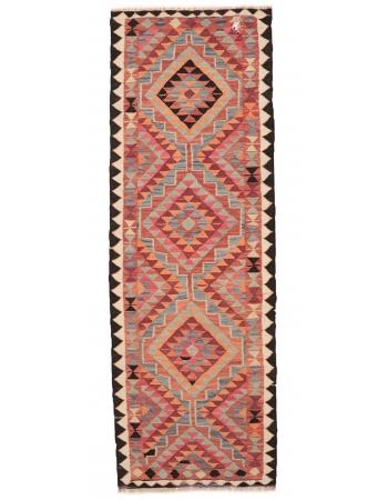 "Vintage Decorative Kilim Runner - 3`2"" x 9`10"""