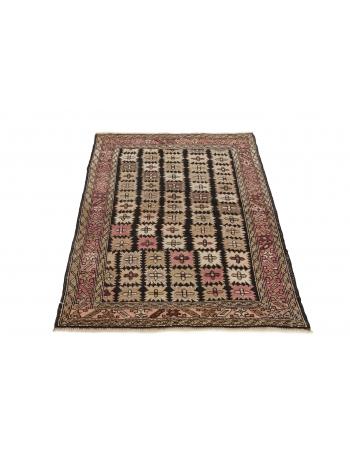 """Antique Caucasian Wool Rug - 3`6"""" x 4`9"""""""
