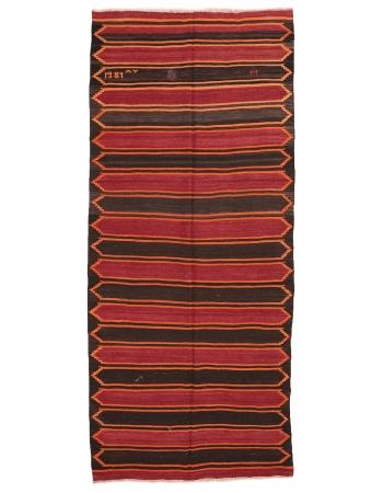 "Striped Vintage Kars Kilim Rug - 5`1"" x 11`8"""