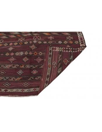 """Embroidered Vintage Kilim Rug - 6`4"""" x 12`2"""""""