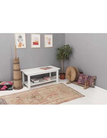"""Washed Out Vintage Caucasian Rug - 3`9"""" x 6`10"""""""