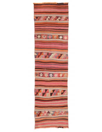 "Vintage Striped Kilim Runner - 3`2"" x 10`8"""