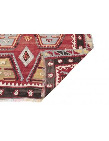 """Vintage Turkish Sivas Kilim Rug - 5`5"""" x 9`3"""""""