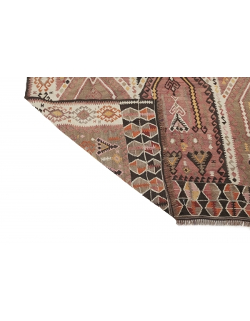 "Vintage Decorative Kilim Rug - 5`4"" x 12`11"""