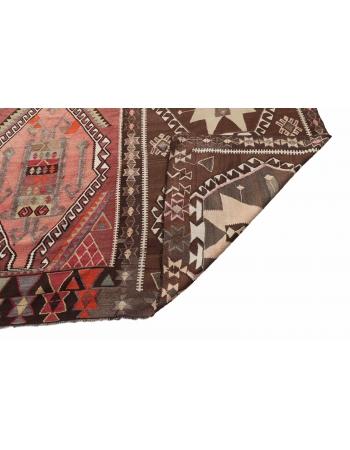 """Oversized Vintage Turkish Kilim Rug - 13`5"""" x 19`4"""""""