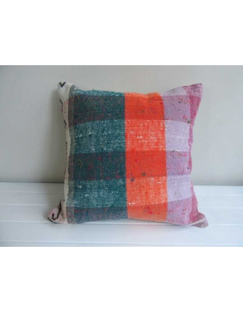 Vintage colorful cotton kilim pillow