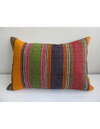 Colorful vintage striped kilim cushion cover