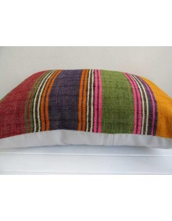 Colorful vintage striped kilim cushion cover