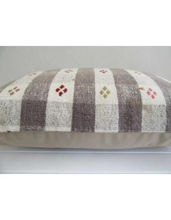 Decorative embroidered Turkish kilim pillow