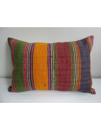 colorful vertical striped decorative kilim pillow