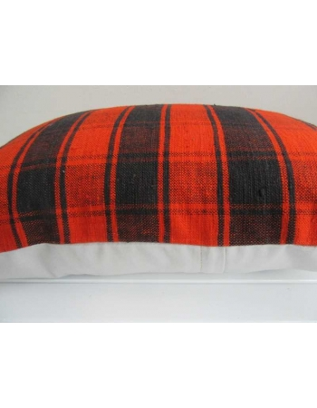 Black and orange decorative kilim pillow cover