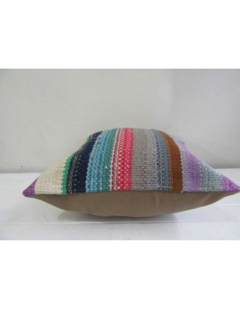 Handmade colorful striped kilim pillow cover