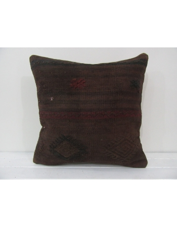 Handmade kilim pillow cover brown
