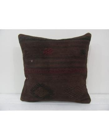 Handmade kilim pillow cover brown