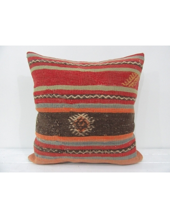 vintage colorful striped kilim pillow cover