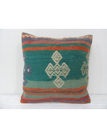 Turkish vintage kilim pillow cover
