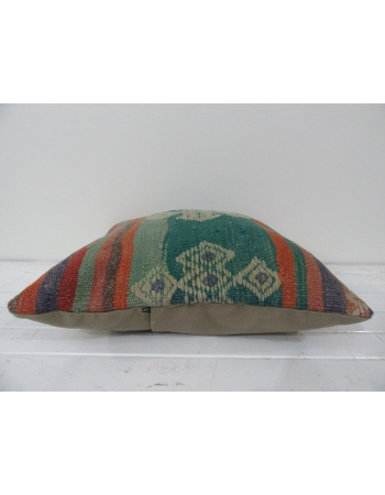 Turkish vintage kilim pillow cover