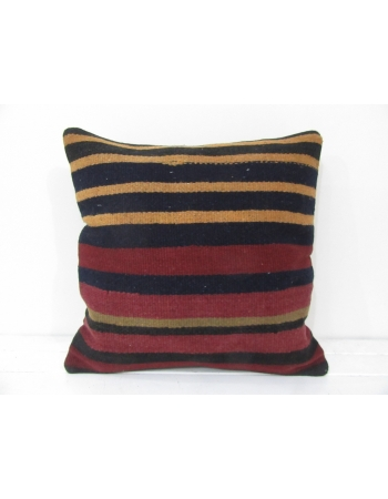 vintage striped kilim pillow cover red yellow
