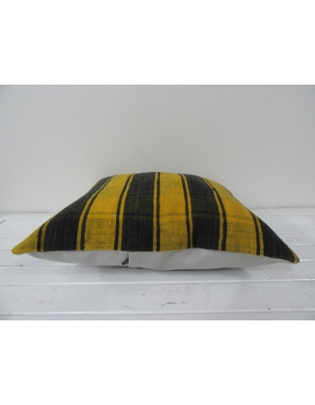 Turkish vintage kilim pillow cover yellow black